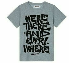 NWT Molo Boys Sz 5 Gray Ravento S/S  'Here There and Every Where' T-Shirt