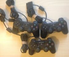 3x Official Black Sony PlayStation PS2 Controller Joblot (For Parts Or Repair)