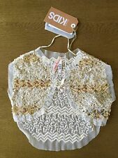 """NEW COTTON ON KIDS """"Little Princess"""" Top Girls Sparkly Party Cardigan RRP$39.95"""