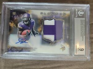 2015 stefon diggs Topps platinum bgs 9 auto rookie refractor patch auto 10