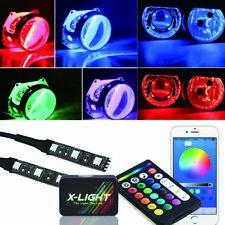 Bluetooth APP + Remote Control Demon Eye Halo ring For Car Headlight Projector