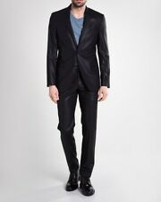 VERSACE COLLECTION 2-Piece Suit 100% Wool - Black - Size 44 UK (Italian 54)