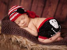 Newborn Baby Boys Photography Prop Crochet Costume Pirate Blinder Hat Diaper