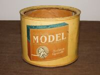 VINTAGE MODEL SMOKING TOBACCO FOR PIPE OR CIGARETTE TIN CAN *EMPTY*