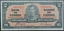 BANK OF CANADA - 1937 $2 NOTE - Prefix L/R - Signed Coyne & Towers - NCC