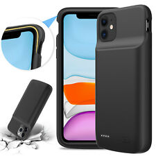 For iPhone 11 Battery Case Power Bank Soft Backup Fast Charger External Charging