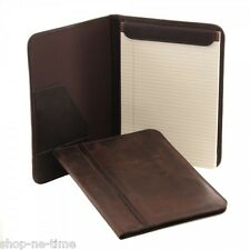 Piel Leather Vintage Letter-Size Full-Grain Cowhide Brown Leather Padfolio -New