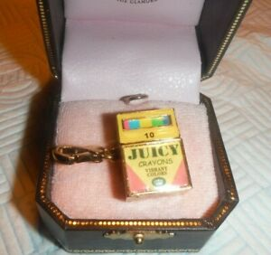 Juicy Couture GOLD Plated Crayon Box Charm YJRU4238 NEW