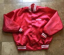 Vintage 80s Motorcraft Racing Red Nylon Satan Jacket Men/Adult XL
