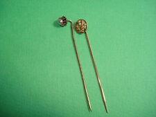 2 Epingles anciennes  Chardon / Perle nacrée  Antique Pin