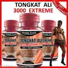 ◆ TONGKAT ALI 3000 EXTREME ◆ 200:1 ROOT EXTRACT ◆ LONGJACK PASAK BUMI CAPSULES ◆