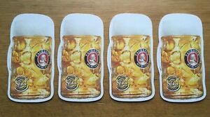 4 X Official Paulaner Munchen Drinks Coasters Beer Mats