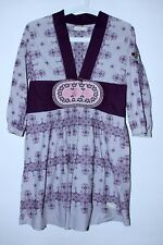 Odd Molly Cotton Embroidered 3/4 Sleeve Dress Tunic With Back Strap Size 1/S