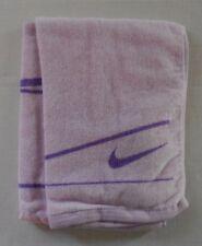 Nike Graphic Medium Towel 100% Cotton 35cm x 75cm Light Purple/Bright Violet New