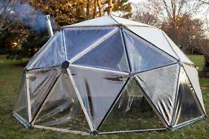 2V Geodesic Dome Hub Brackets - DIY Kit Metal Connectors for Igloo + Greenhouse