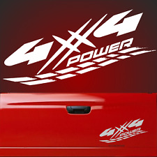 4x4 Aufkleber POWER V8 OFF ROAD 30x15cm 4 x 4 L200 Allrad Sticker Jeep  x5 usa F