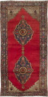 "Hand-knotted Turkish Carpet 4'11"" x 9'11"" Konya Anatolian Traditional Wool Rug"