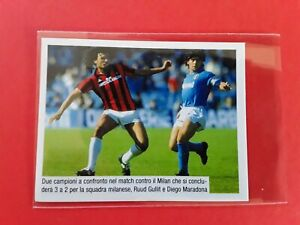 """""""Panini"""" foot MARADONA NAPOLI VS  RUUD GULLIT AC MILAN Sticker rare"""