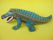 OAXACA CARVINGS AMAZING CROCODILE MEXICAN FOLK ART