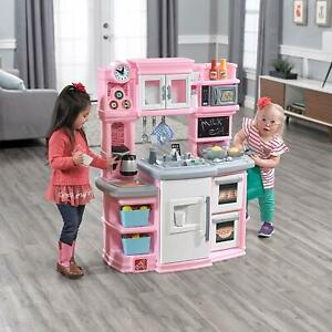 Step2 Great Gourmet Kids Play Kitchen, Pink, w/ Accessory Set - Kids Girl Toy
