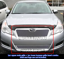 Fits 2010-2012 Subaru Legacy Stainless Steel Mesh Grille Combo Insert