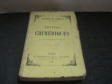 Théodore de BANVILLE: Lettres chimériques  (dos réparé)