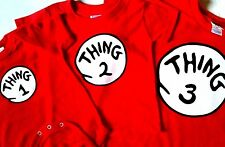 thing one and thing two t-shirts youth adult infant thing 1 and thing 2 t-shirts