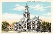 Circleville Ohio Pickaway Court House Street View Antique Postcard K36643