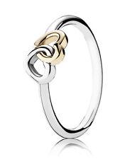 PANDORA Ring  190927 - 56  Herz an Herz 925 Silber & Gold gr.56 neu