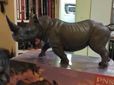 Africa Animal Vinyl PVC Model Figure Figurine White Rhinoceros Rhino