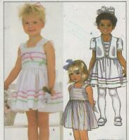 Toddlers Sundress and Jacket Sewing Pattern Size 1 2 3   McCalls 8644