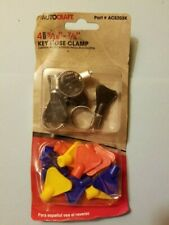 4pc AUTOCRAFT 5/16 in. - 7/8 in. Key Hose Clamps Pack Of 4 With Keys AC5203K