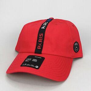 JORDAN x Paris Saint Germain Adjustable H86 Baseball Hat Cap Red CJ8055-657 PSG