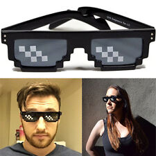 Deal With It 8 Bit Pixel Black Framed Glasses Sunglasses Meme Thug Life Video