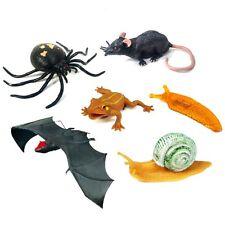 Halloween 6 Toy Pack - Slug, Snail, Bat, Rat, Frog & Spider - Fun Creepy Toys