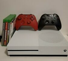 Microsoft Xbox One S - 500GB (White) 2 Controllers  Cables,  4 Games