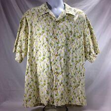 Quiksilver Hawaiian Aloha Friday Shirt Palm Tree Button Front Mens XL