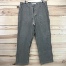 9065daa6a3 Vtg American Eagle Outfitters Supply Pants 36 x 34 Olive Green Straight Leg  B75