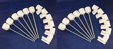 12 Weave Pole Pegs + 12 Jump Cups Dog Agility Equipment, You Cut Poles to Length