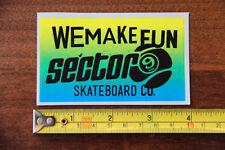 SECTOR 9 Skateboard Longboard STICKER Decal LOGO New Make Fun BLUE