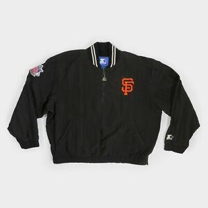 Vintage 90s Starter San Francisco Giants Windbreaker Jacket 1/4 Zip Pullover L