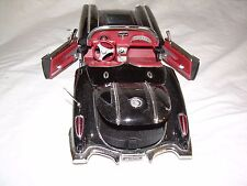 1958 Diecast Metal Black Convertible Corvette 1:18 Scale No. 73109 Fast Shipping