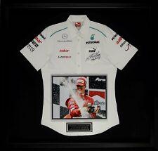Michael Schumacher Autographed Jersey Display
