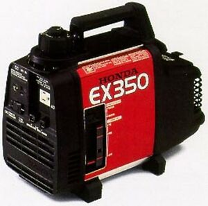 HONDA EX350 GENERATOR SERVICE AND USER MANUALS ON CD