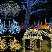 Solar String Lights 100-200 LED Multi Outdoor Garden Party Christmas Fairy Lamp