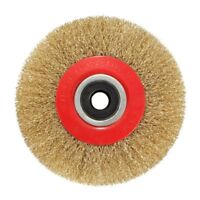 Wire Brush Wheel for Bench Grinder Polish + Reducers Adaptor Rings,5inch 12 J7P7