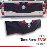 BLACK TAILGATE TAIL GATE COVER TRIM FOR NISSAN NAVARA NP 300 2013 - 2017