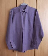MENS ASDA GEORGE ESSENTIALS LONG-SLEEVED FORMAL SHIRT - BRAND NEW - PURPLE