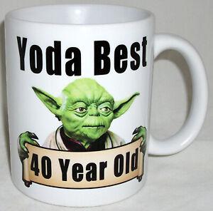 Yoda Best Choose Any Age Birthday Star Wars Design Sci Fi Coffee Tea Mug Gift