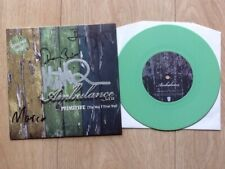 Ambulance LTD ‎– Primitive (The Way I Treat You) Fully Signed Green vinyl 7""